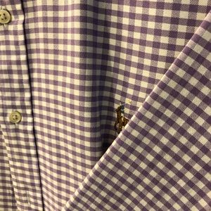 Polo by Ralph Lauren Purple and White Button Down